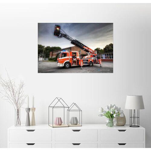 Posterlounge Wandbild, Feuerwehr-Teleskopmastfahrzeug