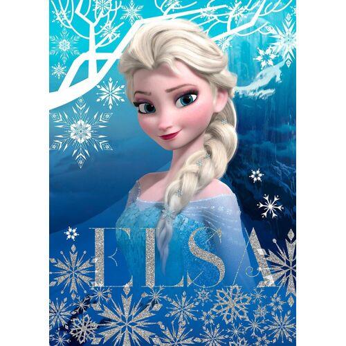 Disney Leinwand »Die Eiskönigin Elsa«, mit Glitzer, blau