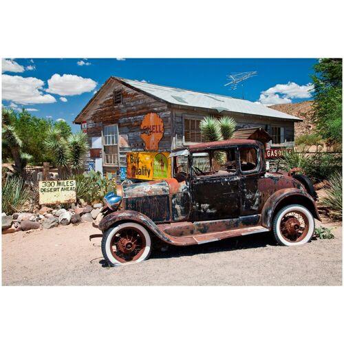 ART & Pleasure Acrylglasbild »Desert car«, aus Acrylglas, bunt