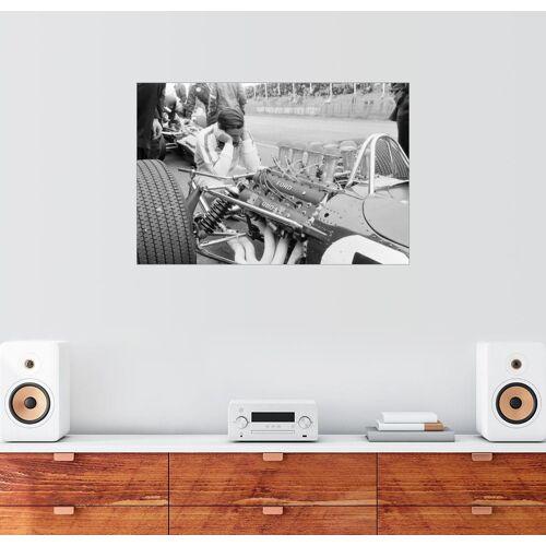Posterlounge Wandbild, Jim Clark und sein Lotus 49 Ford, Zandvoort 1967
