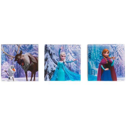 ART for the home Set: Leinwand »Disney Die Eiskönigin«, 3-er Set, aquablau/türkis/lila/weiß