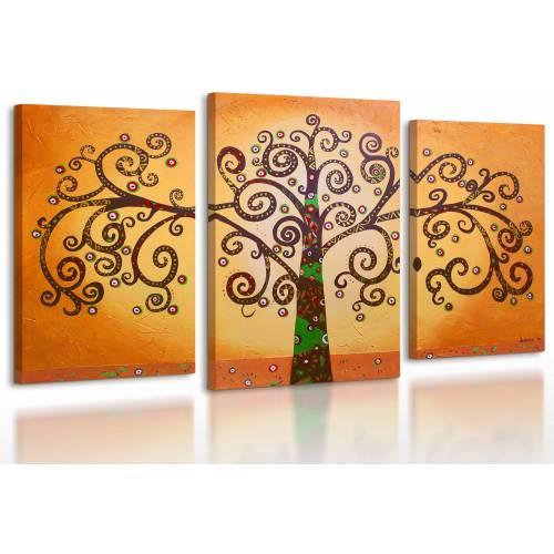 ART YS-Art Gemälde »Baum des Lebens 005«