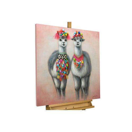 KUNSTLOFT Kunstdruck »Look-alike«, handbemaltes Wandbild auf Leinwand