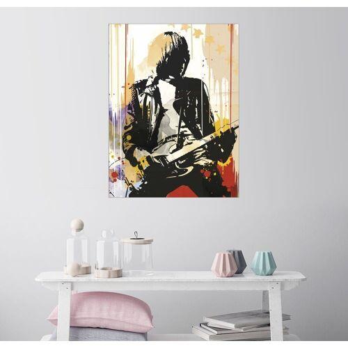 Posterlounge Wandbild, Leinwandbild Johnny Ramone, The Ramones