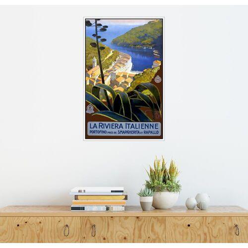 Posterlounge Wandbild, Italien – La Riviera Italienne