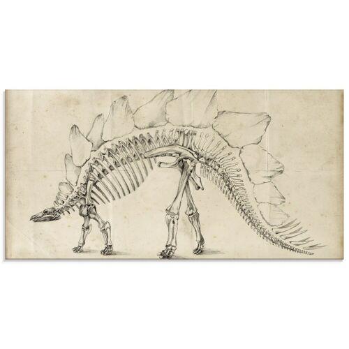 Artland Glasbild »Dinosaurier Lehre III«, Dinosaurier (1 Stück)