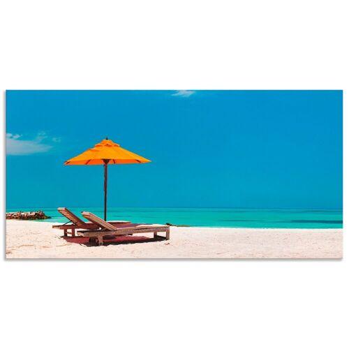 Artland Wandbild »Liegestuhl Sonnenschirm Strand Malediven«, Strand (1 Stück)