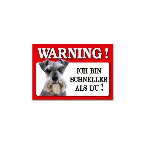 HTI-Line Metallschild »Blechschild Wachhund Schnauzer«, Blechschild
