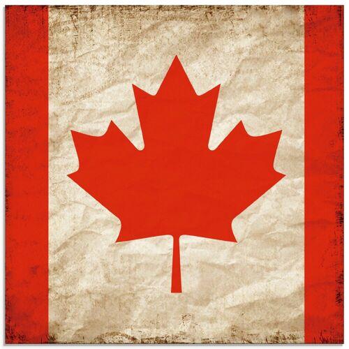 Artland Glasbild »Schöne kanadische Fahne im Vintage-Look«, Zeichen (1 Stück)