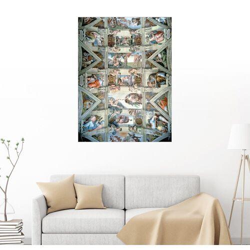 Posterlounge Wandbild, Sixtinische Kapelle – Decke und Lünetten