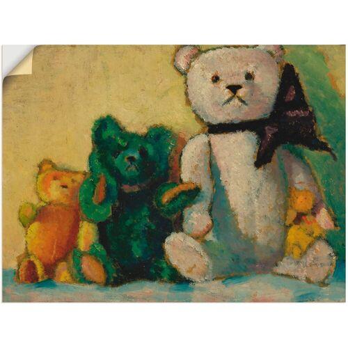 Artland Wandbild »Die Bärenfamilie. 1926«, Spielzeuge (1 Stück)