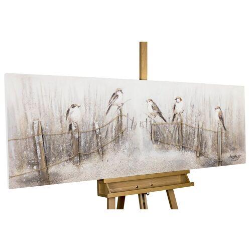 KUNSTLOFT Gemälde »Gesang der Vögel«, handgemaltes Bild auf Leinwand