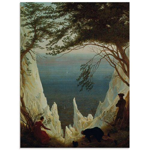 Artland Glasbild »Die Kreidefelsen von Rügen. 1818/1819.«, Felsen (1 Stück)