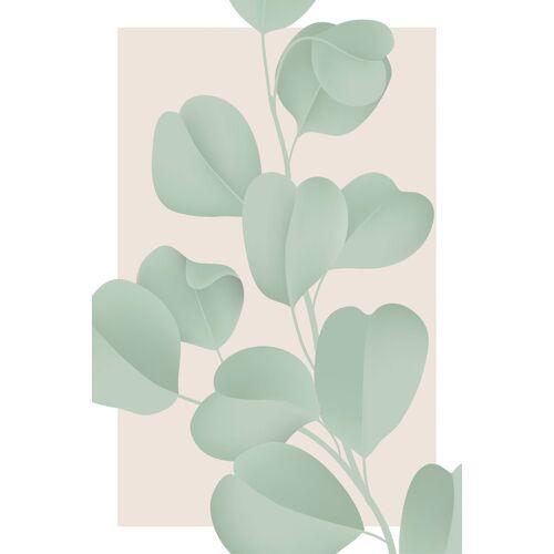 queence Leinwandbild »Blätter mit rosa Hintergrund«