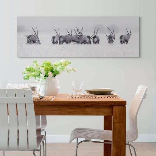 Holzbild »Deco Panel 52x156 Wildlife Herd«