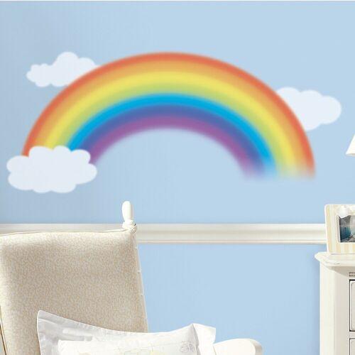 RoomMates Wandsticker »Wandsticker Regenbogen mit Wolken, 4-tlg.«