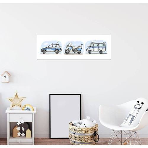Posterlounge Wandbild, Hugos Polizei 3-er Set
