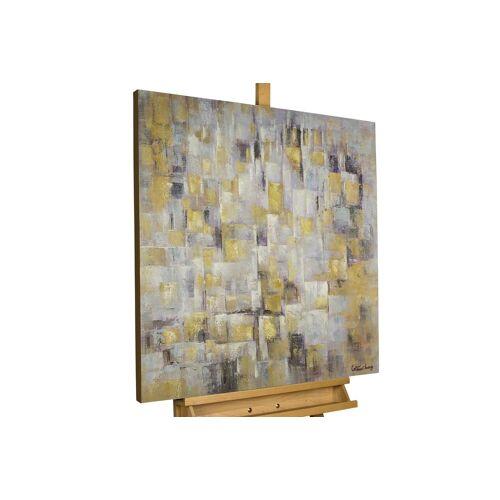 KUNSTLOFT Gemälde »Laternenschimmer in der Nacht«, handgemaltes Bild auf Leinwand