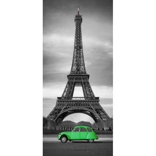 Papermoon Fototapete »Paris - Türtapete«, matt, (2 St), BlueBack, 2 Bahnen, 90 x 200 cm