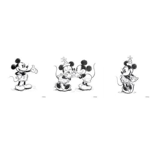 ART for the home Set: Leinwand »Mickey Minnie Sketch«, Disney, 3-er Set, schwarz/weiß