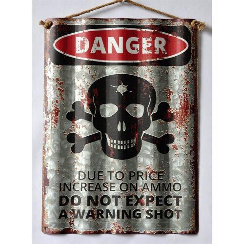 HTI-Line Metallschild »Blechschild Danger«, Blechschild