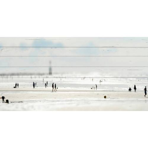 queence Holzbild »Miniatur Strand«, 40x80 cm