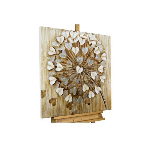 KUNSTLOFT Gemälde »Pusteblume im Wind«, handgemaltes Bild auf Leinwand