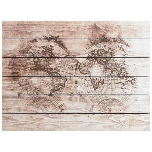 ART for the home Holzbild »Wood World Map«, Weltkarte, 80x60cm