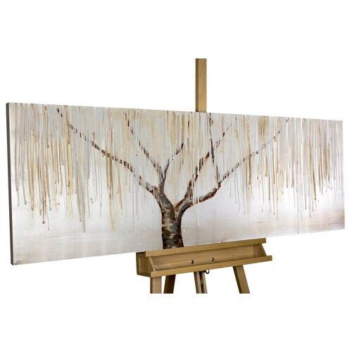 KUNSTLOFT Gemälde »Trauerweide im Nebel«, handgemaltes Bild auf Leinwand