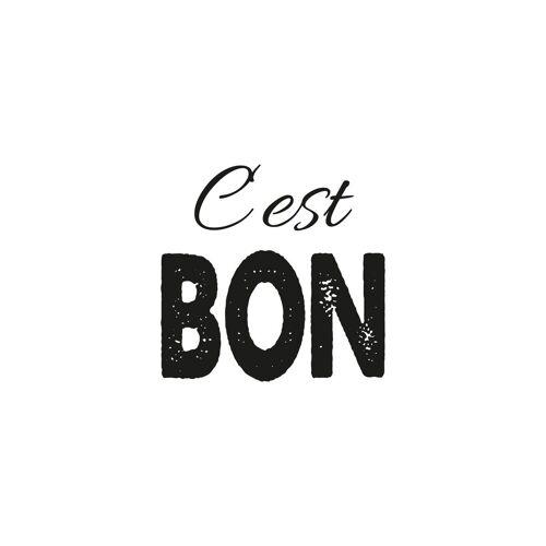 queence Leinwandbild »Spruch C'est Bon«