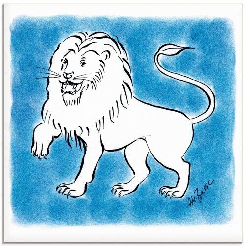 Artland Glasbild »Serie Sternzeichen Löwe«, Sternzeichen (1 Stück)