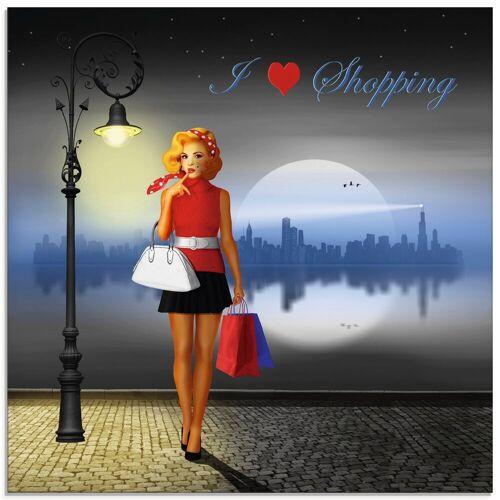 Artland Glasbild »Ich liebe Einkaufen«, Mode (1 Stück)