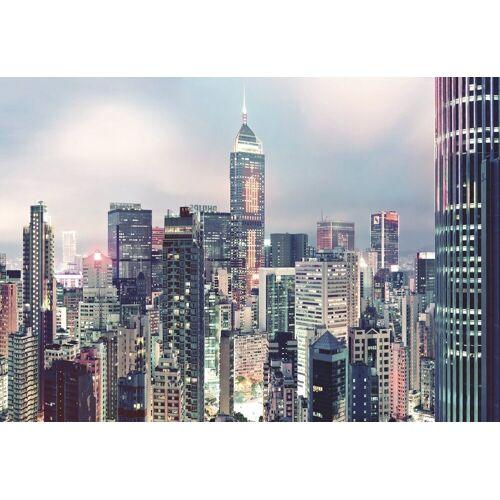 Komar Fototapete »Skyline«, 4-teilig, bunt