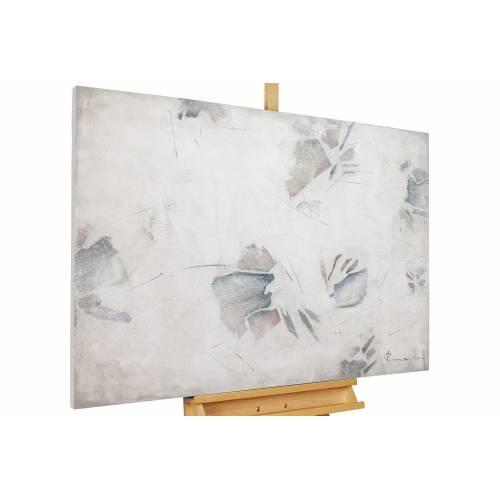 KUNSTLOFT Gemälde »Schneespuren«, handgemaltes Bild auf Leinwand