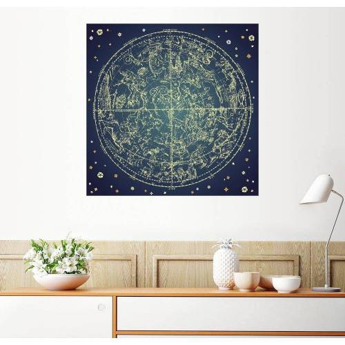 Posterlounge Wandbild, Sternenkarte