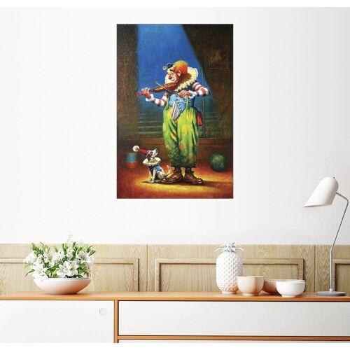 Posterlounge Wandbild, Clown und Hund