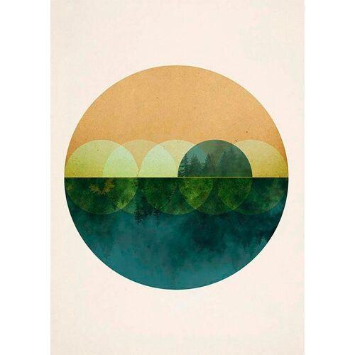 Komar Poster »Mirrors«, Abstrakt, Höhe: 50cm