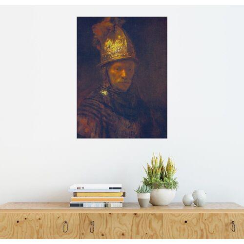 Posterlounge Wandbild, Mann mit dem Goldhelm
