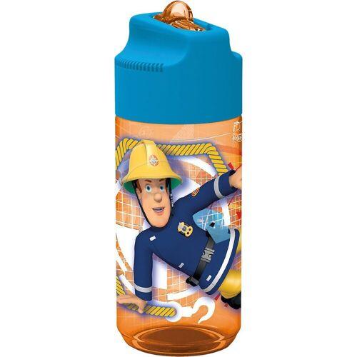 p:os Trinkflasche »Tritan-Trinkflasche inkl. Strohhalm Feuerwehrmann«