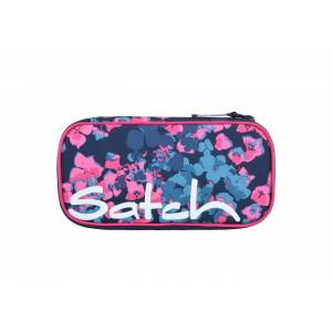 Satch Federmäppchen, PET, blau pinke blümchen awesome blossom