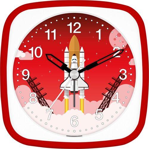 EUROTIME Kinderwecker »Rakete rot, 27133-01«