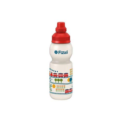 Fizzii Trinkflasche »Trinkflasche Eisenbahn byGraziela, 330 ml«, blau-kombi