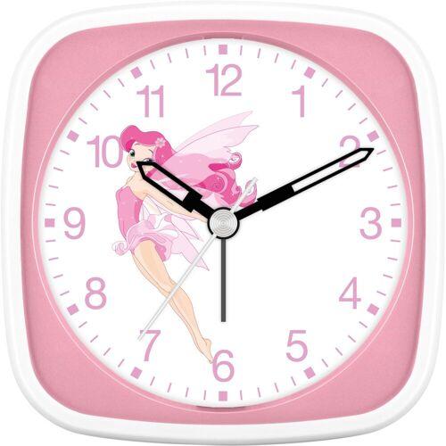 EUROTIME Kinderwecker »Fee fliegend rosa, 27032-22«
