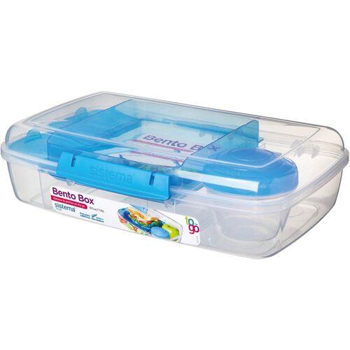 sistema Brotschale »LUNCH Brotdose Bento Box, inkl. Joghurt-Dose, blau«