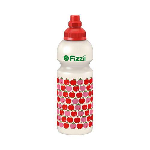Fizzii Trinkflasche, rot/weiß