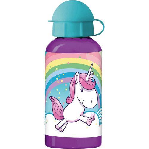 p:os Trinkflasche »Alu-Trinkflasche Einhorn, 400 ml«