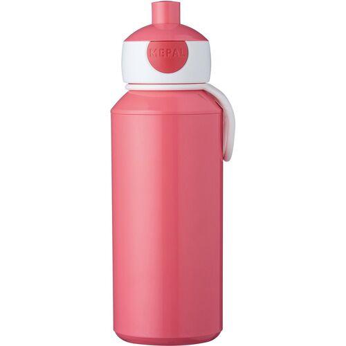 Rosti Mepal Trinkflasche »Trinkflasche pop-up campus lime, 400 ml«, pink