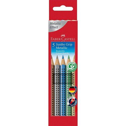 Faber-Castell Buntstift »Buntstifte JUMBO GRIP Metallic, 5 Farben«