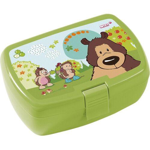 Nici Brotschale »Brotdose Grizzlybär & Igel, inkl. Einsatz«, grün