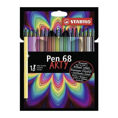 STABILO Filzstifte Pen 68 ARTY, 18 Farben